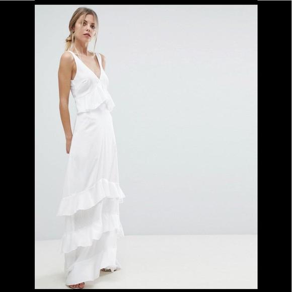 40258bad23c1a ASOS Dresses | Yas Ruffle Maxi Dress With Lace Inserts | Poshmark